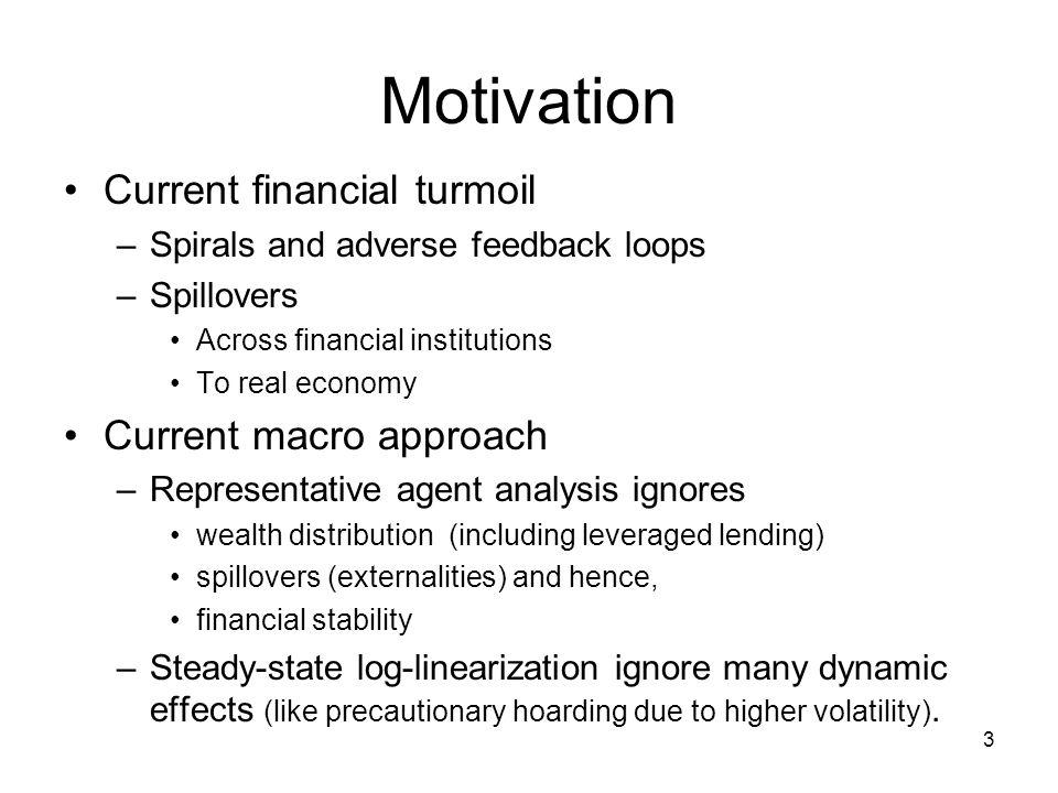 Motivation Current financial turmoil Current macro approach