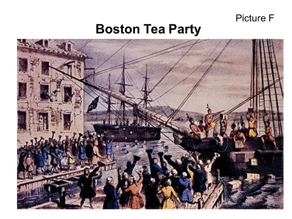 Picture F Boston Tea Party