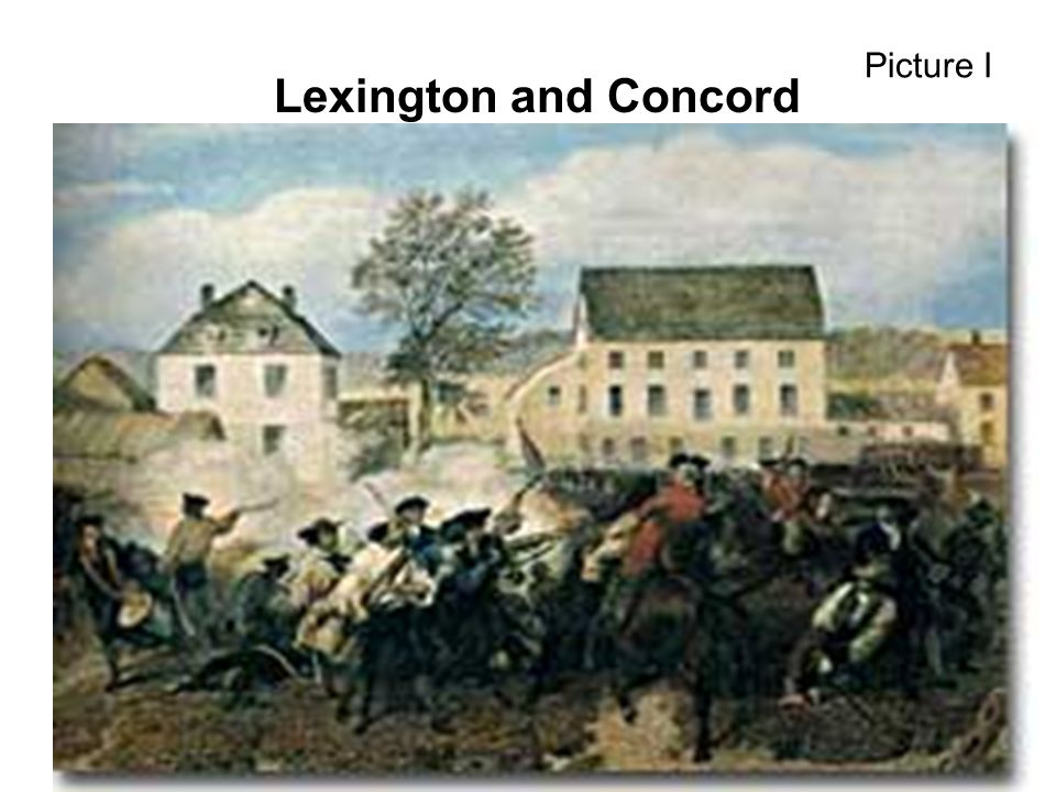 Picture I Lexington and Concord