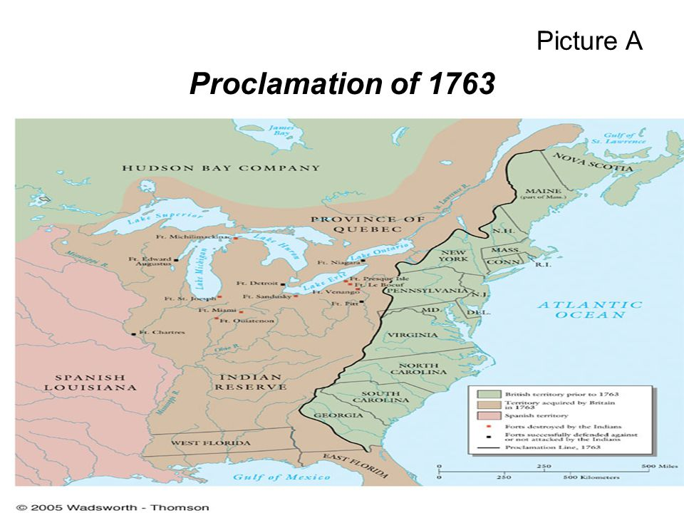 Proclamation of 1763 Picture A