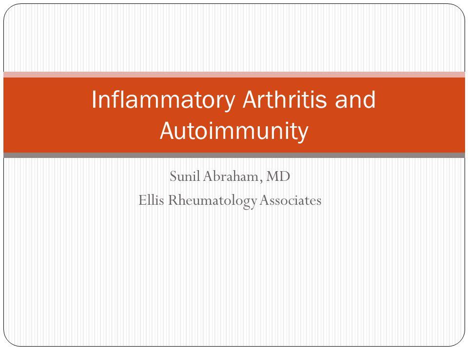 Inflammatory Arthritis and Autoimmunity