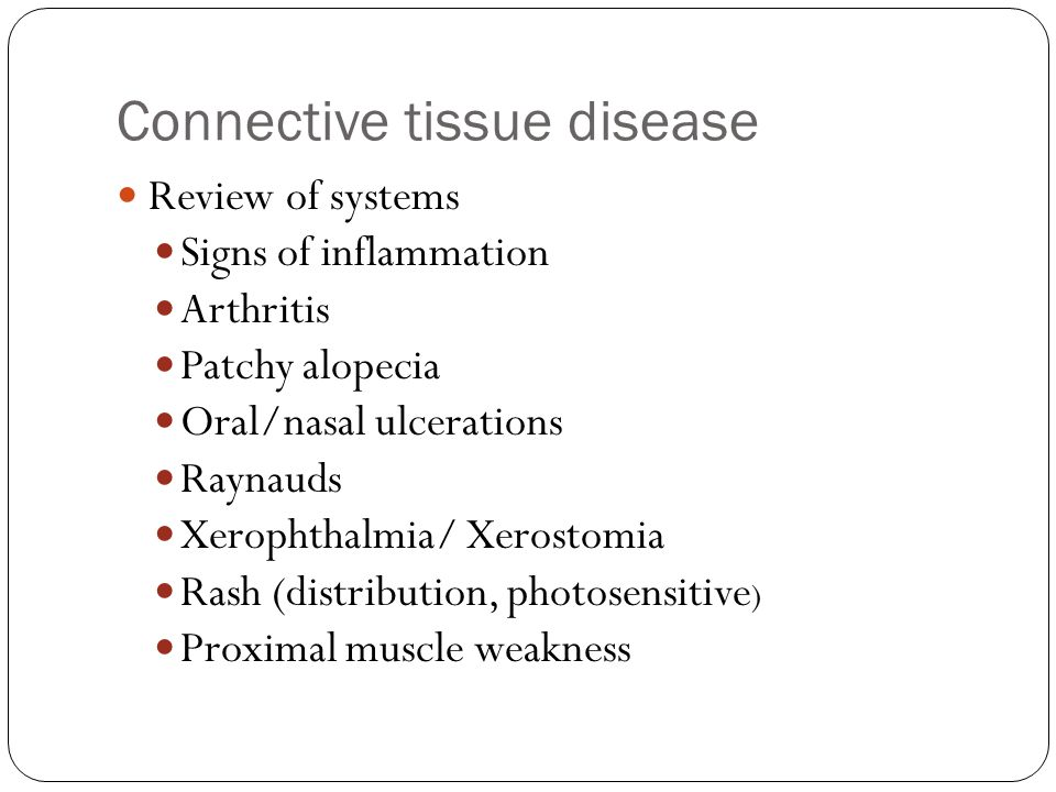 Connective tissue disease