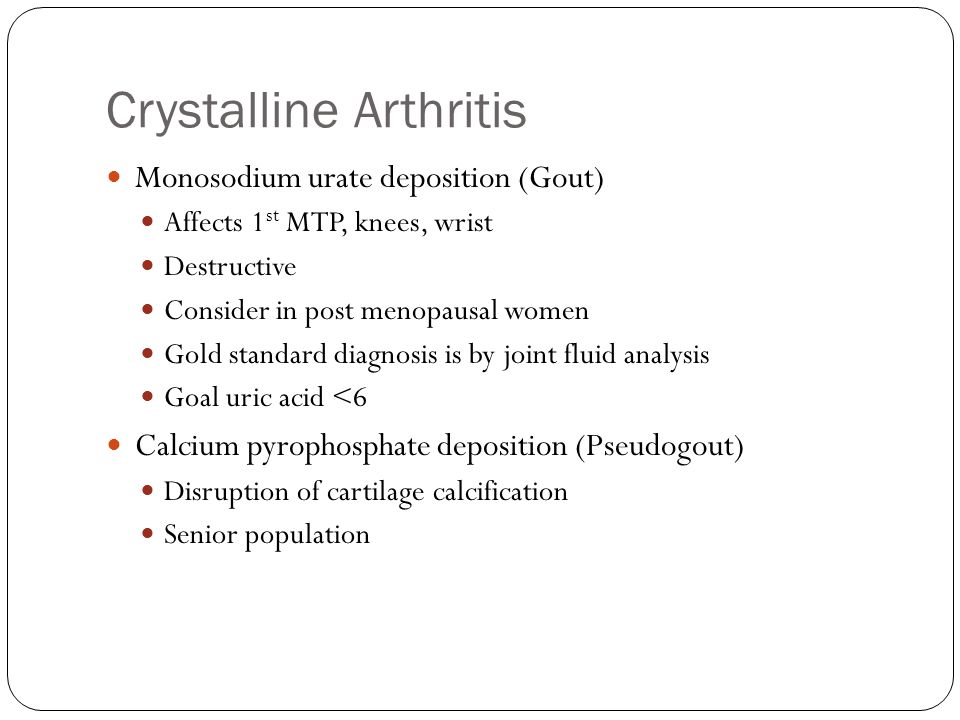 Crystalline Arthritis