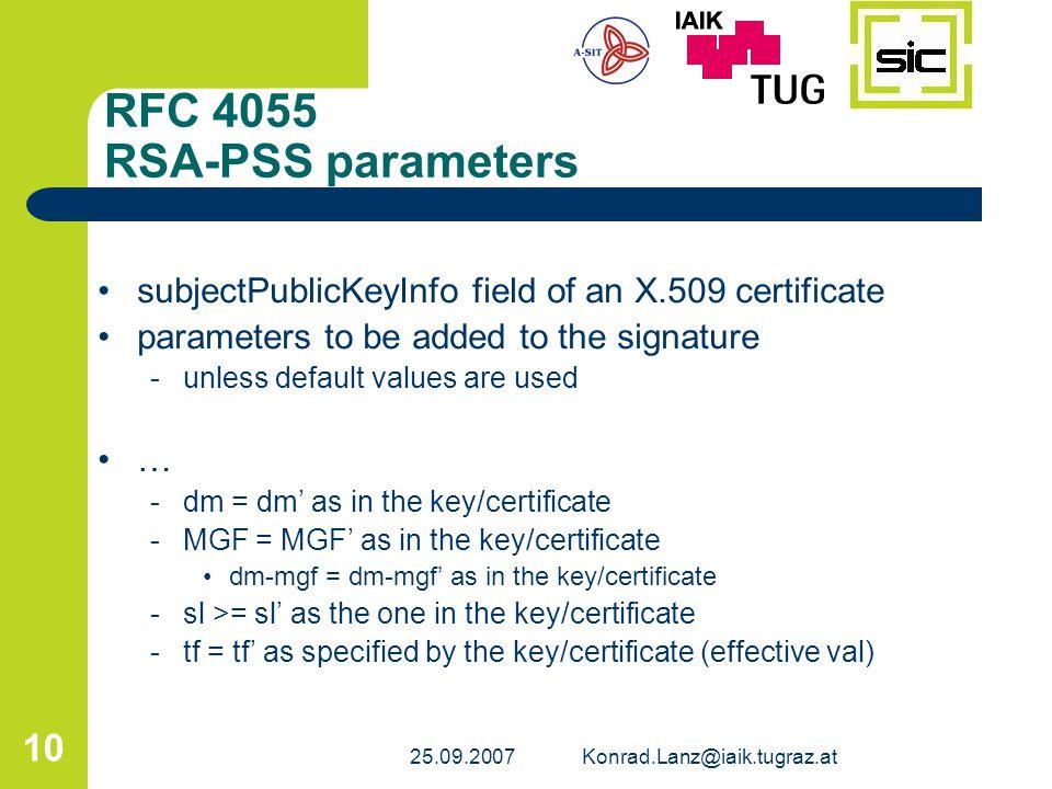 RFC 4055 RSA-PSS parameters