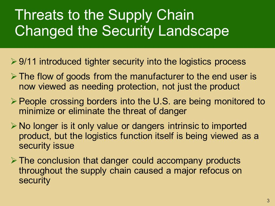 Threats to the Supply Chain Changed the Security Landscape