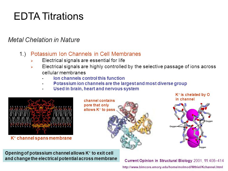 EDTA Titrations Metal Chelation in Nature