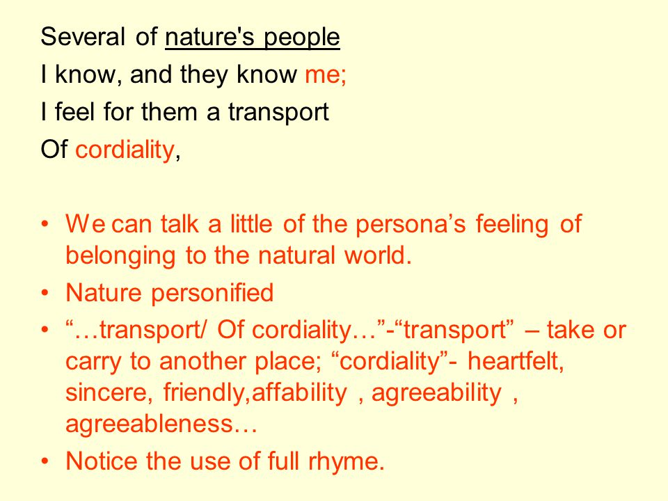 Several of nature s people