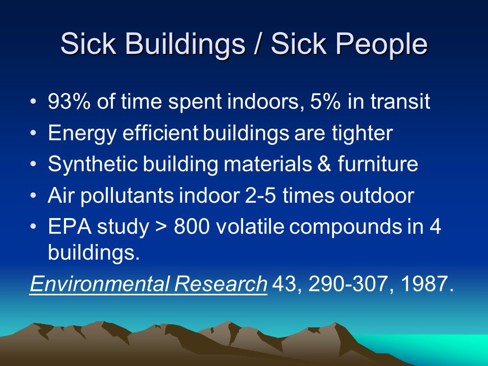 Sick Buildings / Sick People