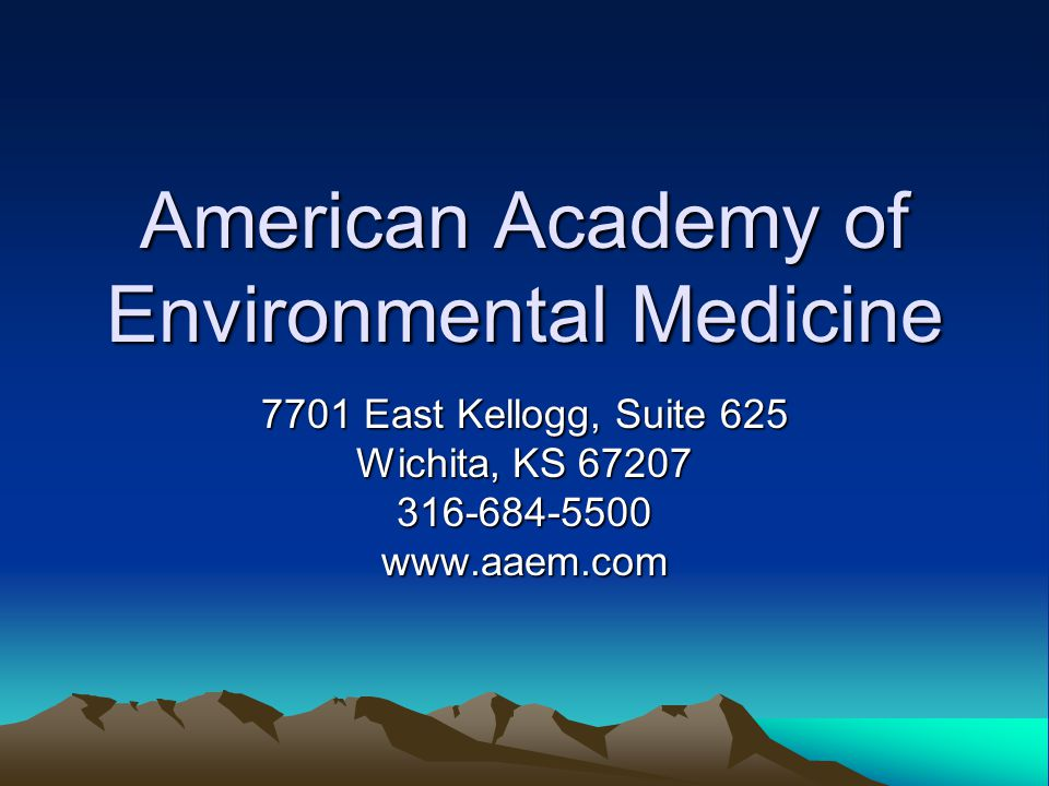American Academy of Environmental Medicine