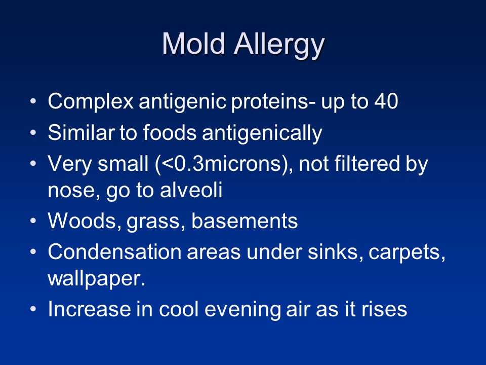 Mold Allergy Complex antigenic proteins- up to 40