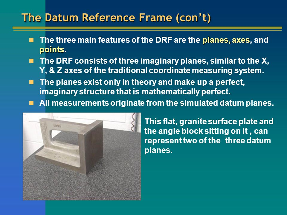 The Datum Reference Frame (con't)