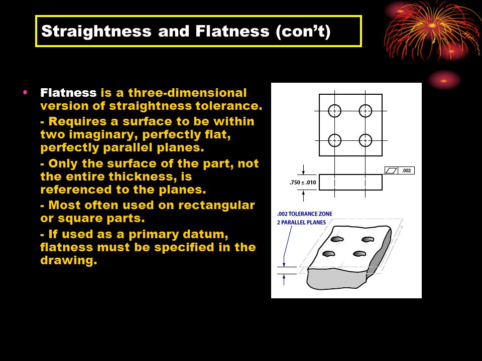 Straightness and Flatness (con't)