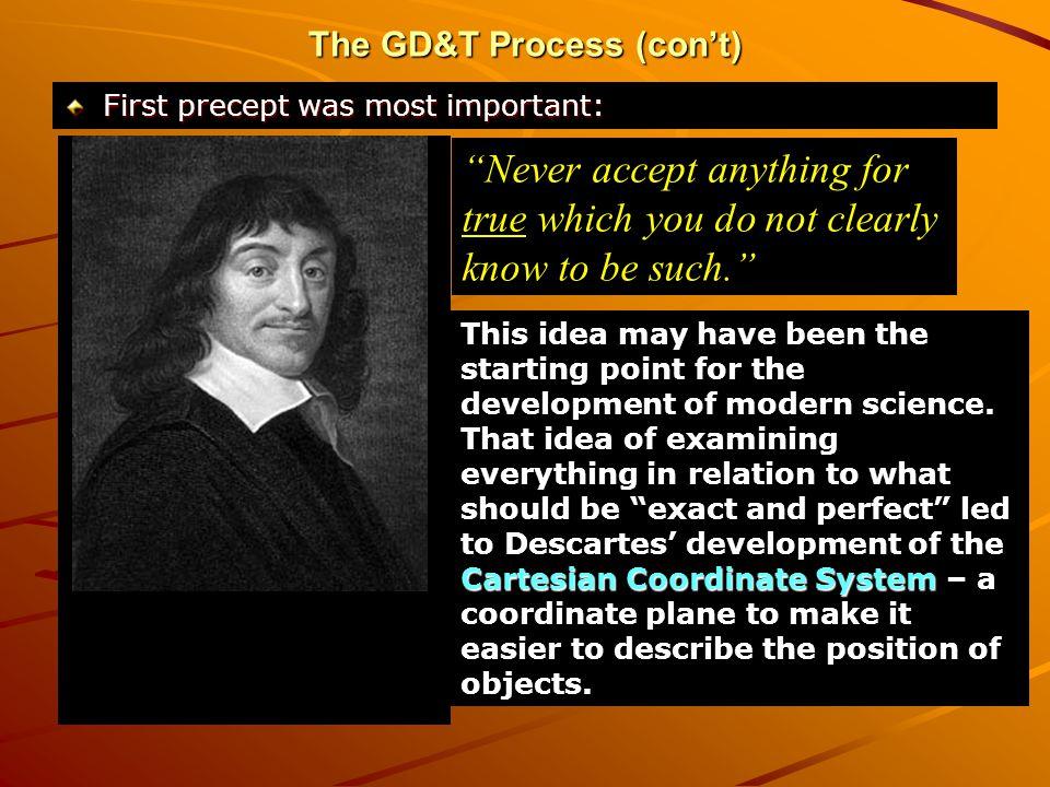 The GD&T Process (con't)