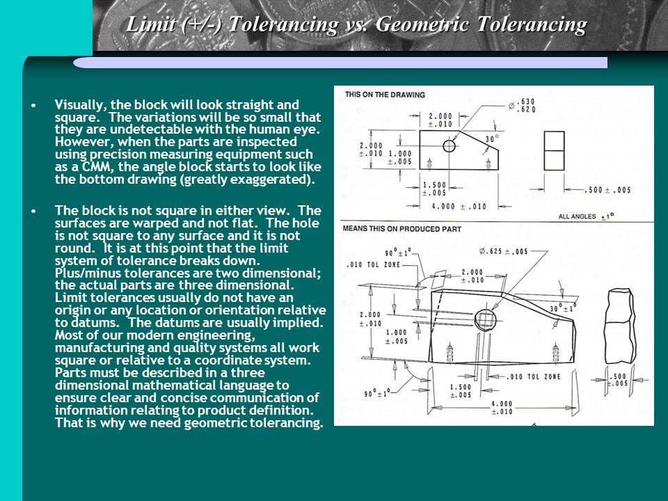 Limit (+/-) Tolerancing vs. Geometric Tolerancing
