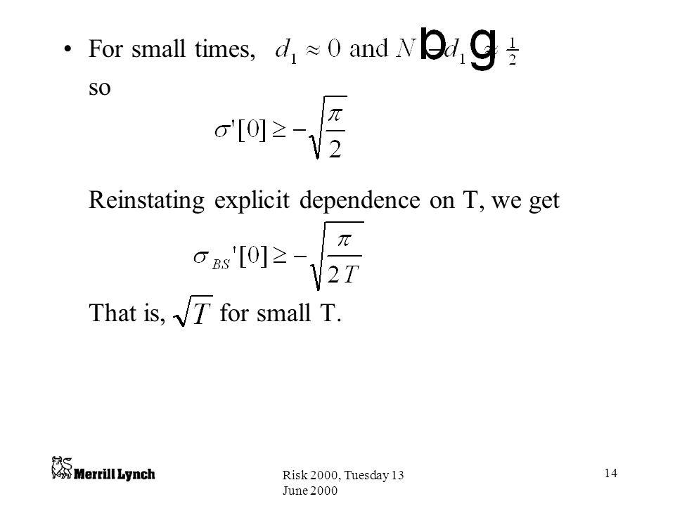 Reinstating explicit dependence on T, we get