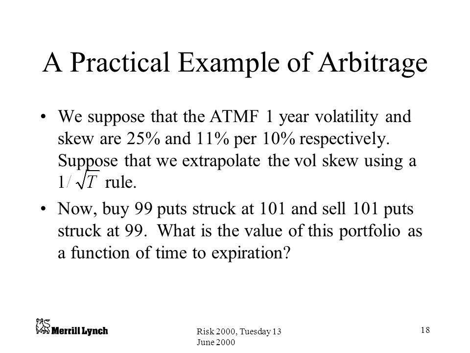 A Practical Example of Arbitrage