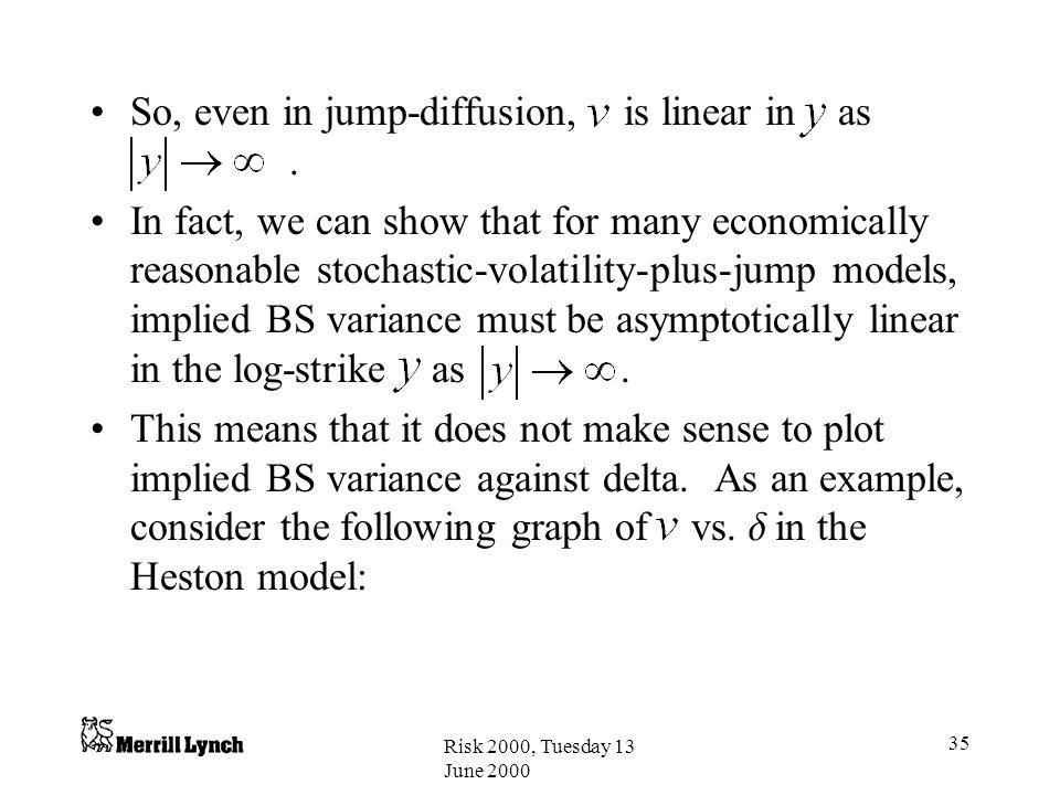 So, even in jump-diffusion, is linear in as .