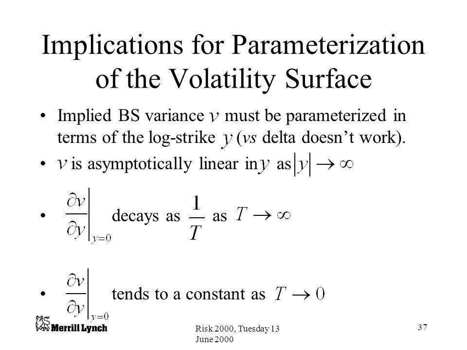 Implications for Parameterization of the Volatility Surface