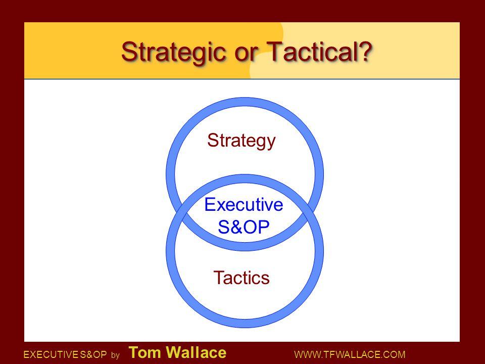 Strategic or Tactical Strategy Executive S&OP Tactics