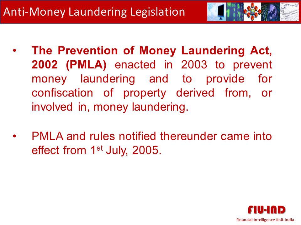 FIU-IND Anti-Money Laundering Legislation