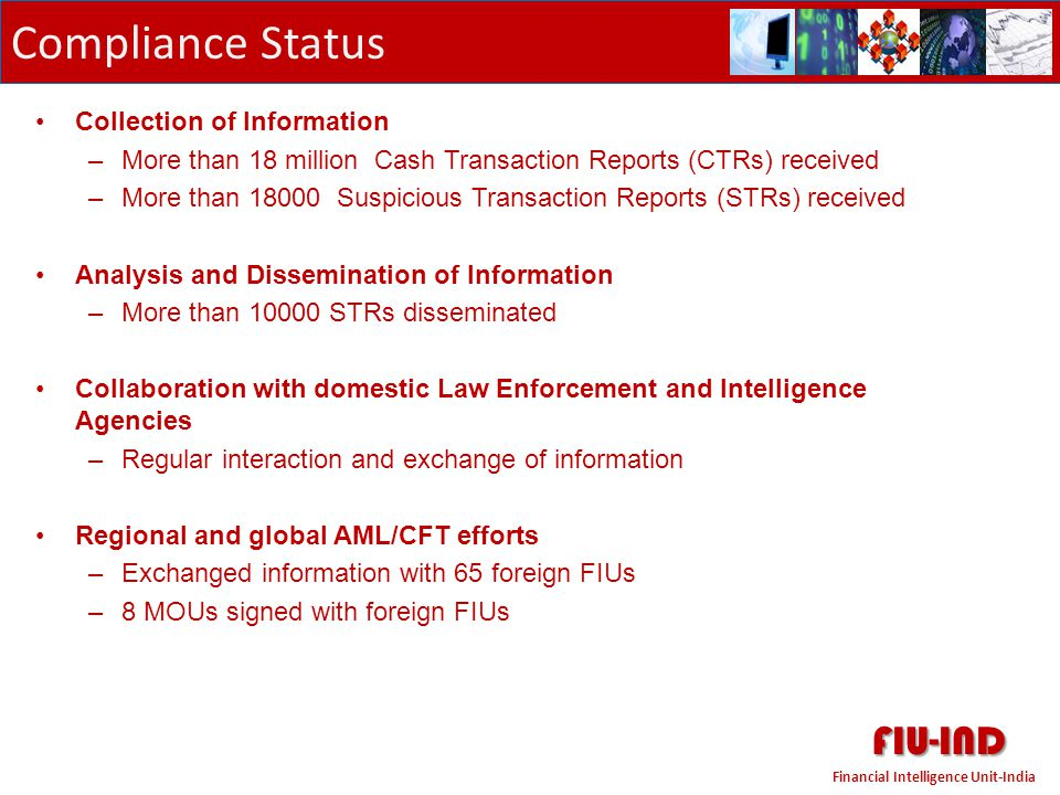 FIU-IND Compliance Status Collection of Information