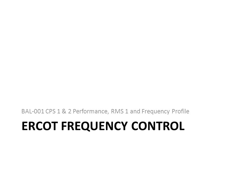 Ercot frequency control