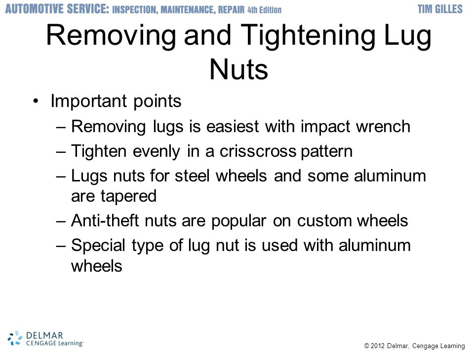 Removing and Tightening Lug Nuts