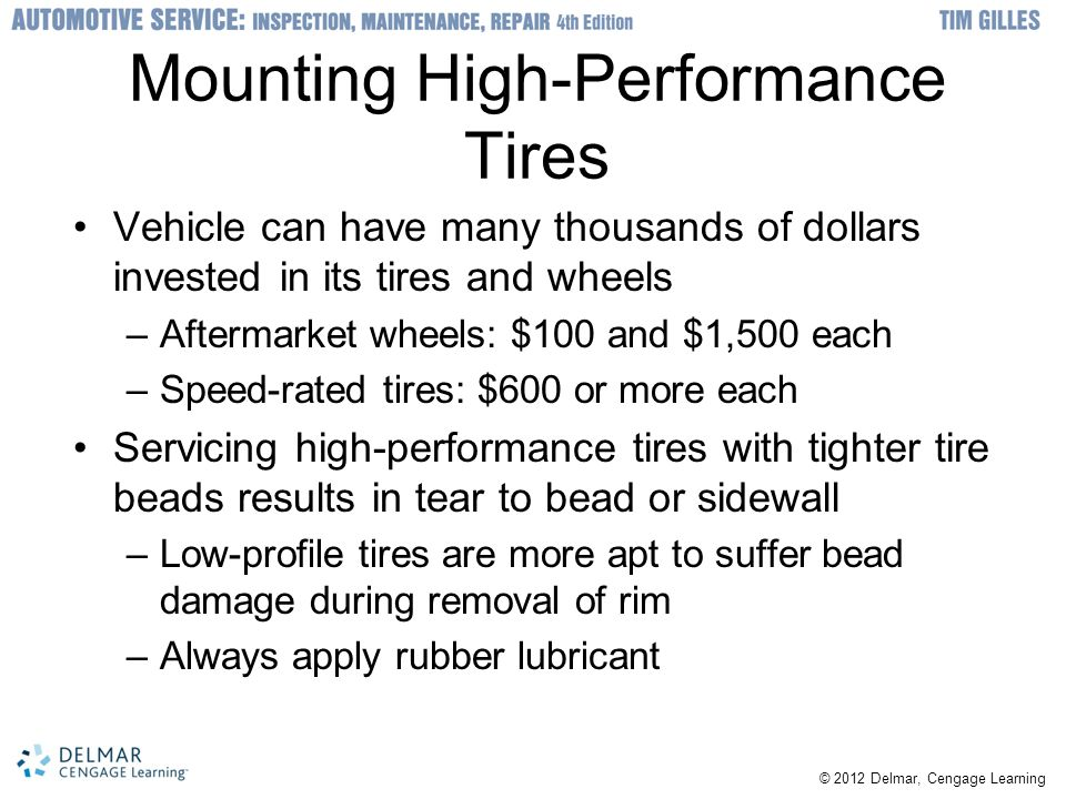Mounting High-Performance Tires