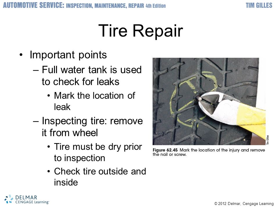 Tire Repair Important points