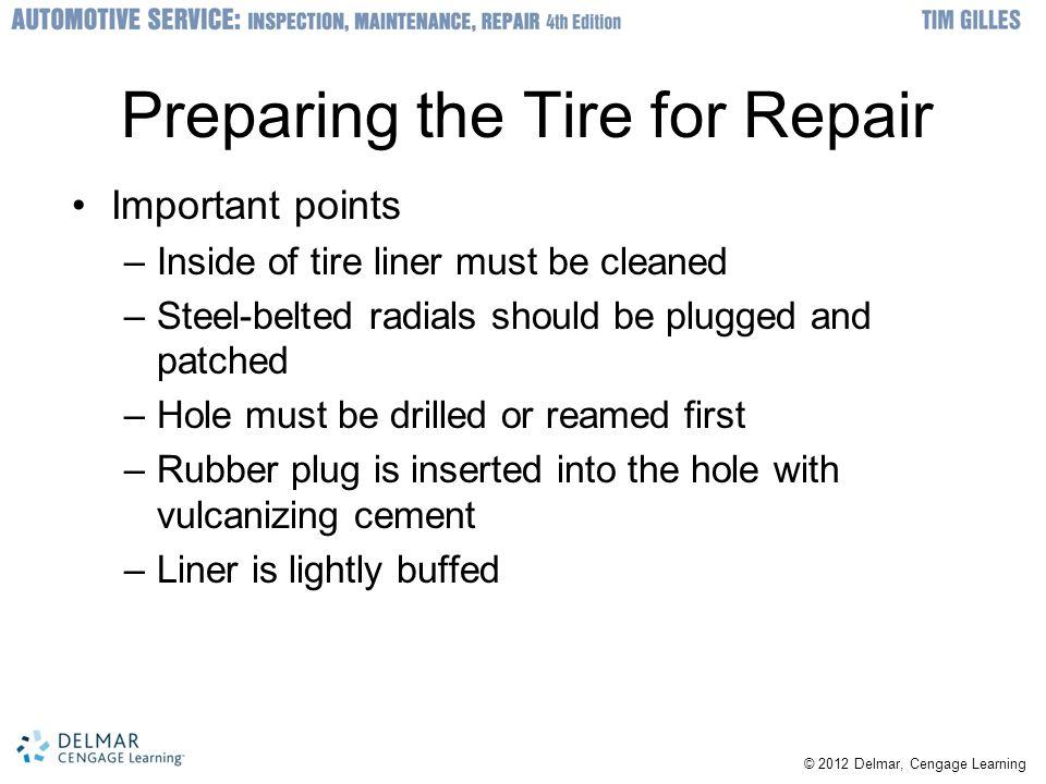 Preparing the Tire for Repair