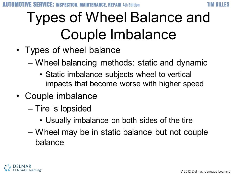 Types of Wheel Balance and Couple Imbalance