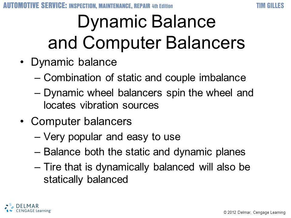 Dynamic Balance and Computer Balancers