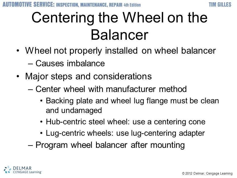 Centering the Wheel on the Balancer