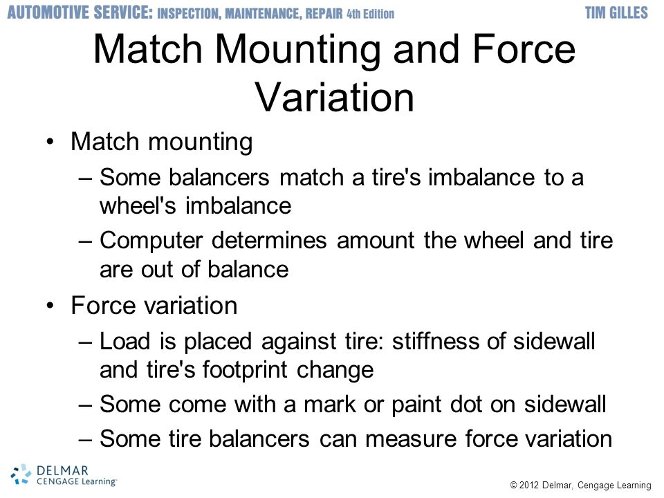 Match Mounting and Force Variation