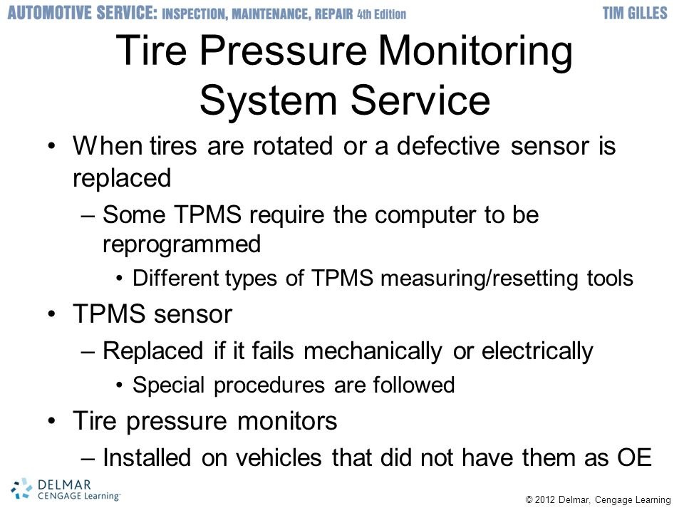 Tire Pressure Monitoring System Service