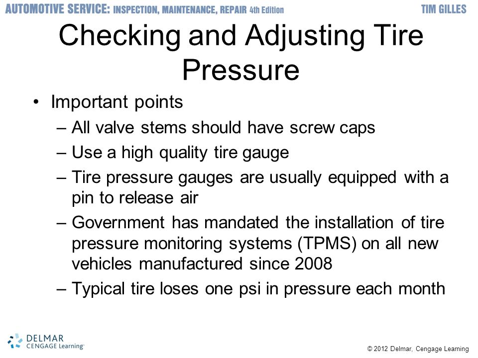 Checking and Adjusting Tire Pressure