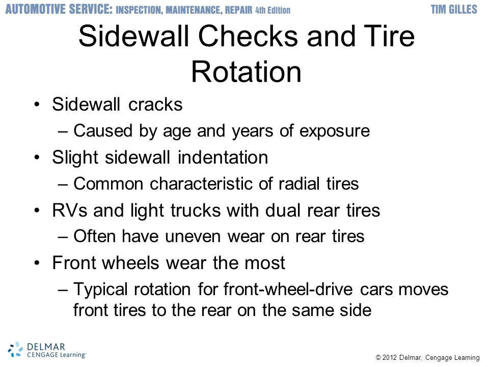 Sidewall Checks and Tire Rotation