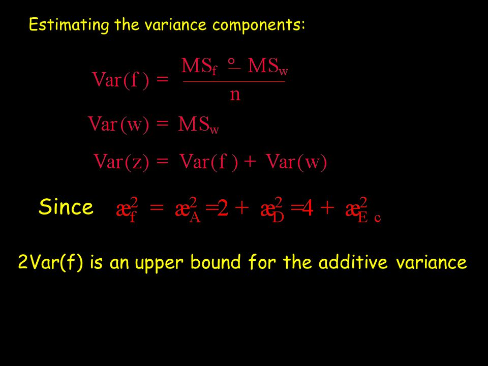 Since 2Var(f) is an upper bound for the additive variance