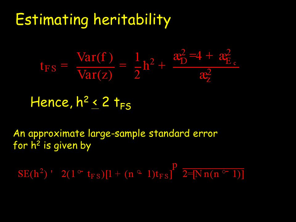 Estimating heritability