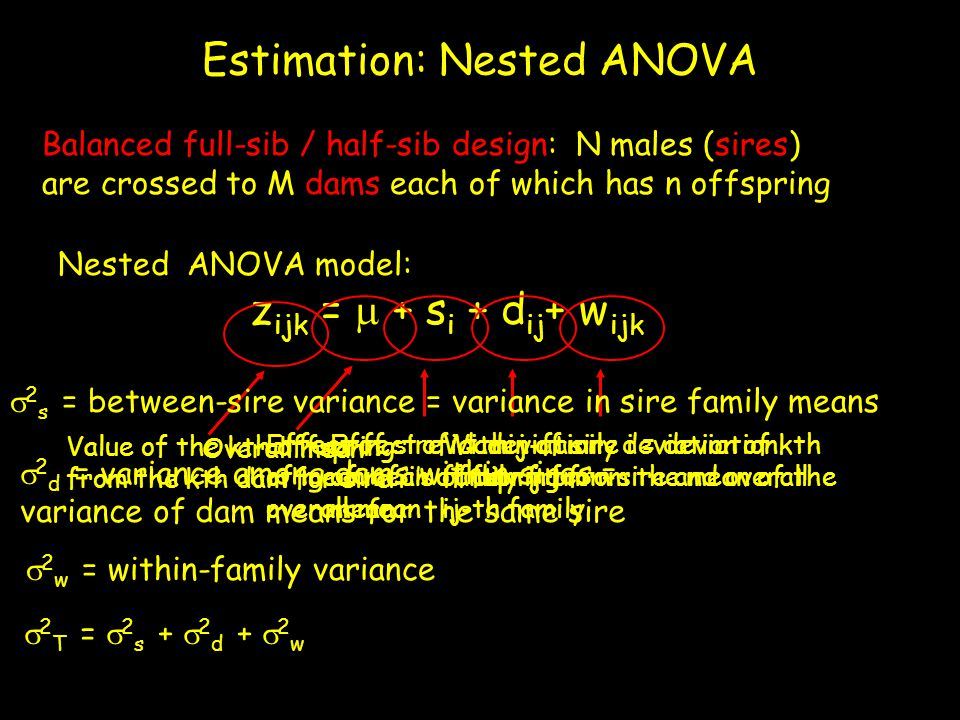 Estimation: Nested ANOVA