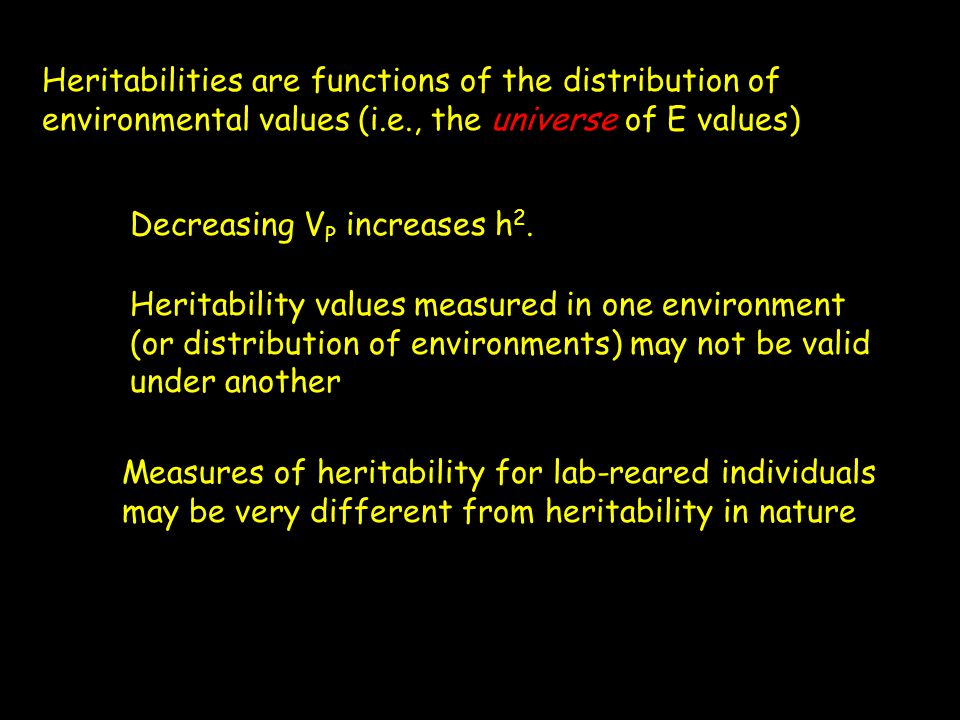 Heritabilities are functions of the distribution of