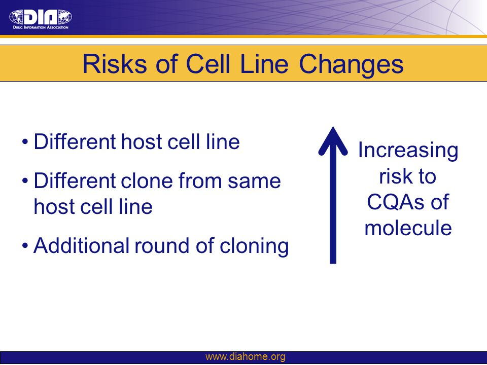 Risks of Cell Line Changes