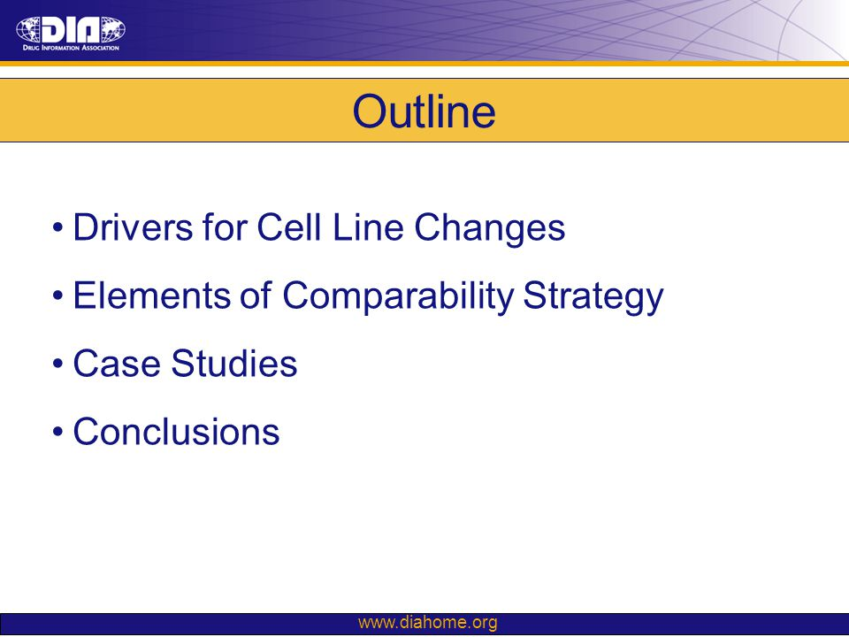 Outline Drivers for Cell Line Changes
