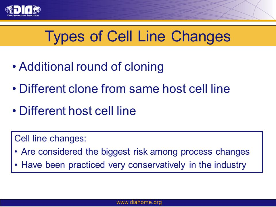 Types of Cell Line Changes