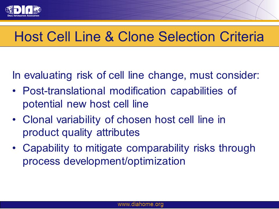 Host Cell Line & Clone Selection Criteria