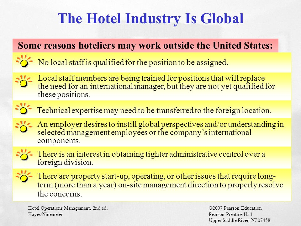 The Hotel Industry Is Global