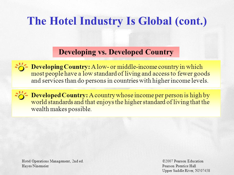 The Hotel Industry Is Global (cont.)