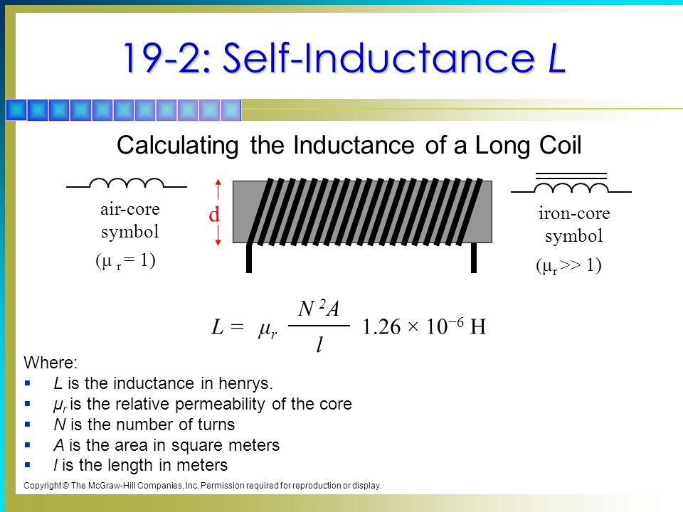 Calculating the Inductance of a Long Coil