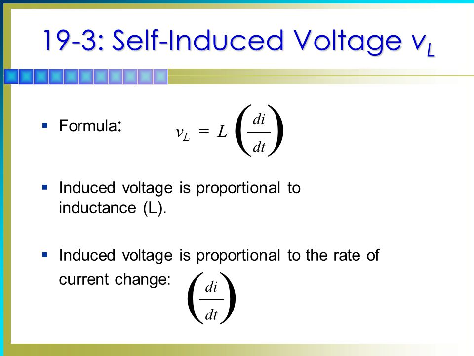19-3: Self-Induced Voltage vL