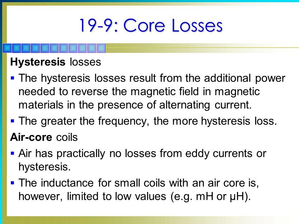 19-9: Core Losses Hysteresis losses